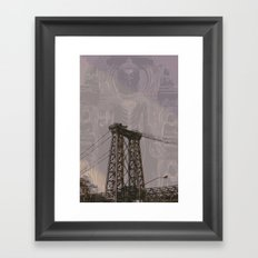 Buddha Bridge Framed Art Print