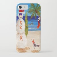 sandman iPhone & iPod Cases featuring Christmas Sandman by Vivid Perceptions