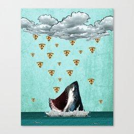Pizza Shark Print Canvas Print
