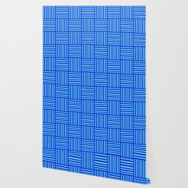 Havana Cabana - Blue Weave Stripe Wallpaper