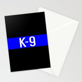 Police K-9 (Thin Blue Line) Stationery Cards