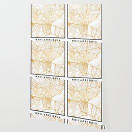 PHILADELPHIA PENNSYLVANIA CITY STREET MAP ART Wallpaper