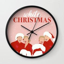 White Christmas Movie Poster, Minimalist Movie Print, Art Decor Wall Clock