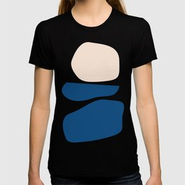 Organic Shapes in Blue and Lime T-shirt