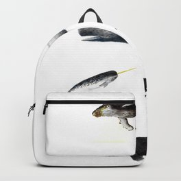 Whales Group of Five Images Backpack