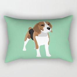 Beagle - Green Rectangular Pillow