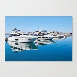 Sea Yacht Club in sunny day Canvas Print
