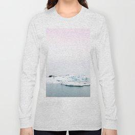 Beautiful glacier lagoon winter Long Sleeve T-shirt