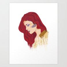 Glam Red Rock Art Print
