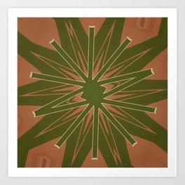 Box Wine Kaleidoscope Square III (Bota III) Art Print