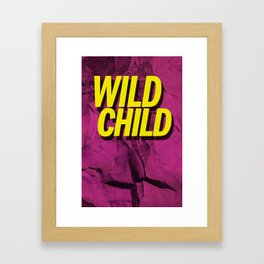 Wild Child Framed Art Print