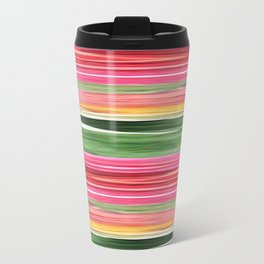 Abstract pattern . The red green . Metal Travel Mug