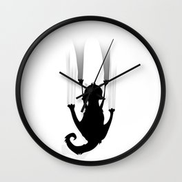 Cat Climb Wall Clock