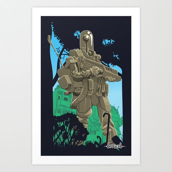Robotic Warfighter MK.5D (devGrob) Art Print