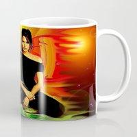 angelina jolie Mugs featuring Angelina Jolie by JT Digital Art
