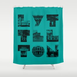 Missing buildings of Lyttelton Shower Curtain