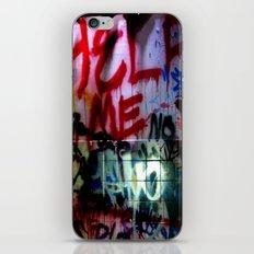 help me graffitti iPhone & iPod Skin