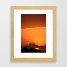 Summer Sunset in Bright Colours Framed Art Print