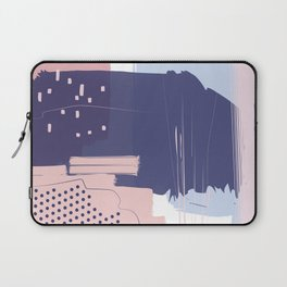Blush Purple Blue Pink Decorative Abstract painting -1, Colour Symphony abstraction, Laptop Sleeve