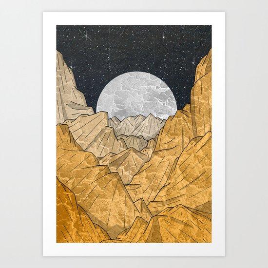 Copper Mounts Art Print