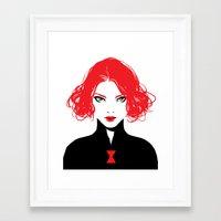 black widow Framed Art Prints featuring Black Widow by Irene Flores