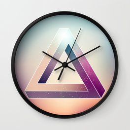 Penrose Triangular Universe Wall Clock
