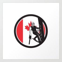 Canadian Tree Surgeon Canada Flag Icon Art Print