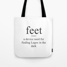 WHAT ARE FEET? - DEFINITION Tote Bag