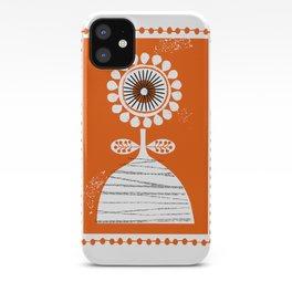 Folk flower iPhone Case