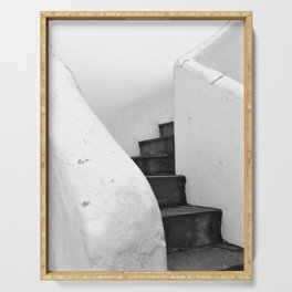 Black and White Stairs Serving Tray