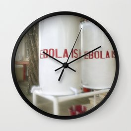 Chlorinated water containers captured West African Ebola outbreak Wall Clock