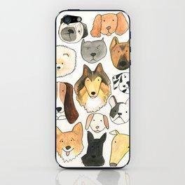 dog lover, dog art iPhone Skin