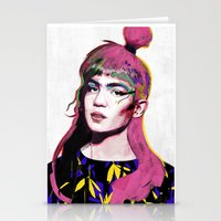 grimes Stationery Cards featuring Grimes by Zaneta Antosik