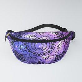 Mandala : Purple Blue Galaxy Fanny Pack