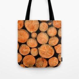 stack of wood Tote Bag