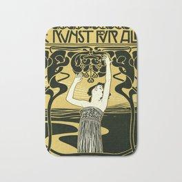 Art Nouveau Vintage Poster by Koloman Moser - Kunst fur Alle - Art for Everyone Bath Mat