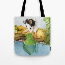 The mouse and the frog Tote Bag