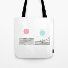 I am The Sea I Drown in Tote Bag