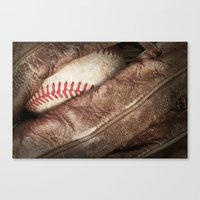 baseball Canvas Prints featuring Baseball by J Pulley Photography