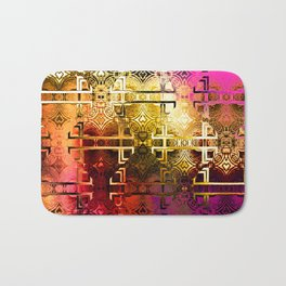 1001 Lights Pattern (gold-magenta-vermillion) Bath Mat