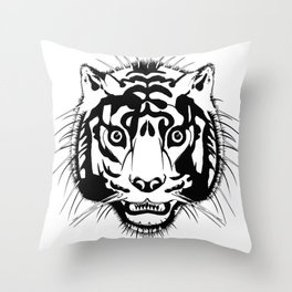 tiger head Throw Pillow