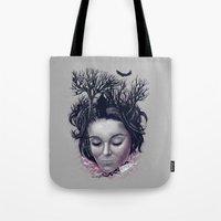 laura palmer Tote Bags featuring Laura by Jorge Garza