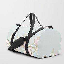 Gold & Pastel Geometric Pattern Duffle Bag
