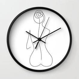 Sitting Beauty Wall Clock
