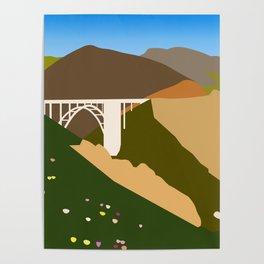 Big Sur Illustration Poster
