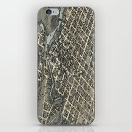 Vintage Pictorial Map of Houston Texas (1873) iPhone Skin