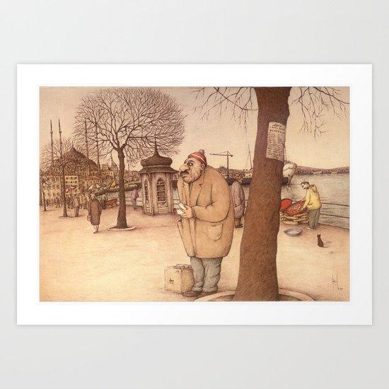 The Uskudar Waterfront, Istanbul Art Print