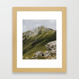 Summer days on the Franconia Ridge Framed Art Print