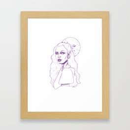 With the Moon So Full Framed Art Print