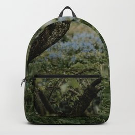 Rainy day at botanical garden Amsterdam | Rainy day in spring photo print Backpack